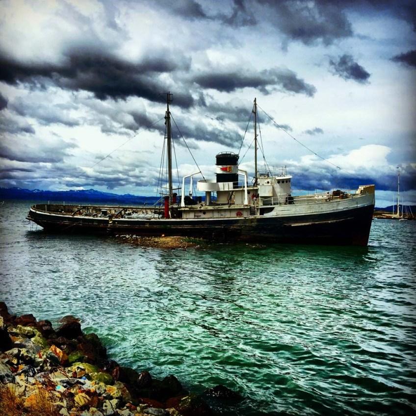 Beached Ship in Ushuaia