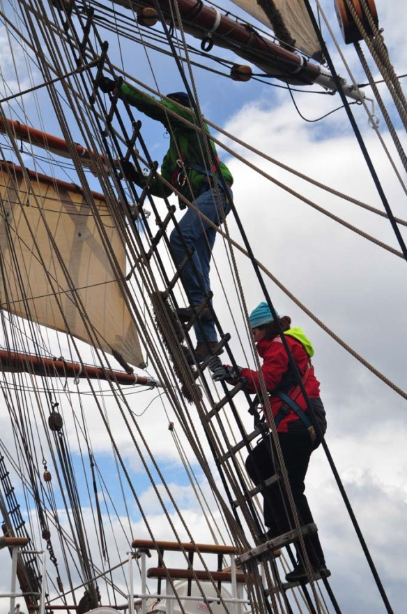 Climbing the Rigging on Bark Europa