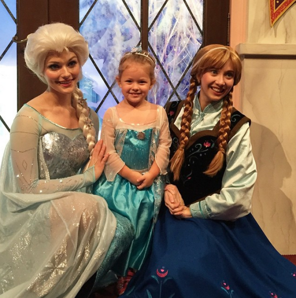 Athena with Elsa and Anna