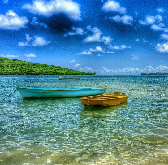 Boats in Mauritius