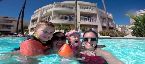 Happy in the Pool at Loews Coronado Bay