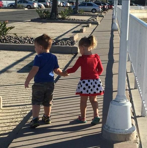 Holding Hands at Loews Coronado Bay