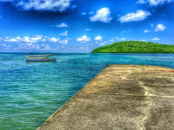 Pier in Mauritius