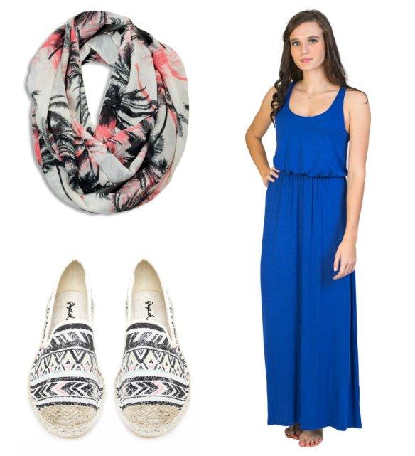 Silver Icing Maxi Dress