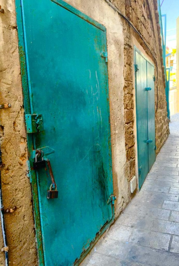 Blue Door in Haifa, Israel