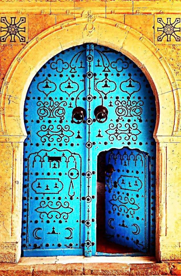 Blue Door in Jerusalem