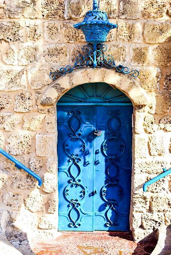 Blue Doors in Old Jaffa, Isreal