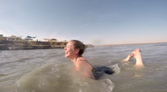 Front Swim in the Dead Sea