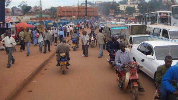 Traffic in Kampala, Uganda