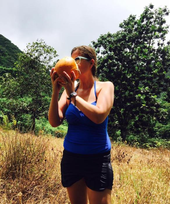 Drinking Coconut Water in Dominica