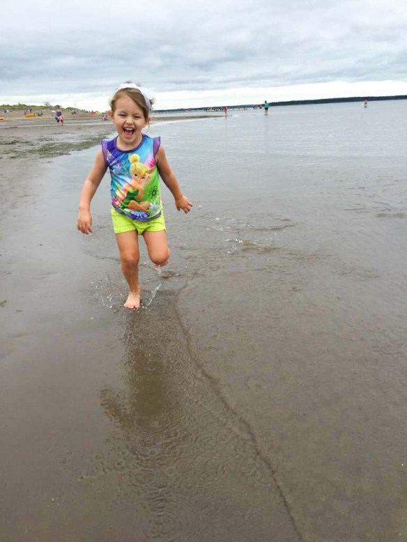 Playing in the Water at Parlee Beach, New Brunswick