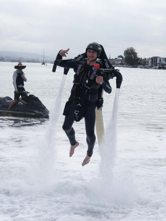 Smiling during Jetpack America flight