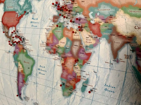 Inspiration Ingrained Travel Map