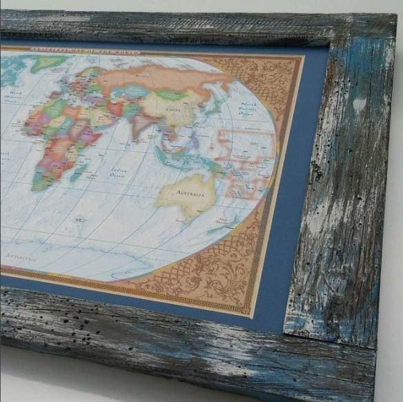 Inspiration Ingrained World Map Frame