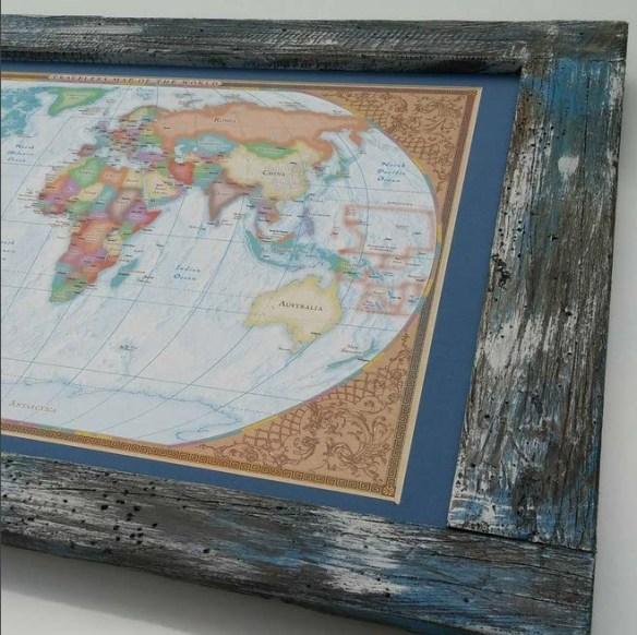 Inspiration Ingrained World Map Frame