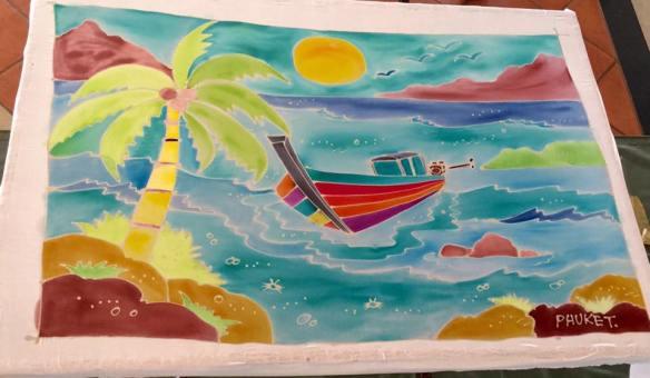 Beach Batik painting at JW Marriott Phuket