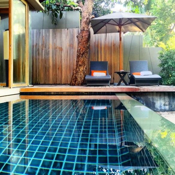 Villa private pool at Renaissance Phuket