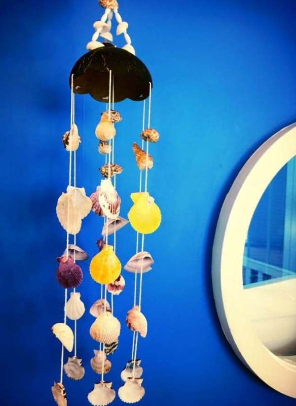 Sea shell wind chime at JW Marriott Phuket
