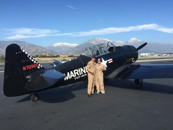 The pilot and I at Aviator Flight Training