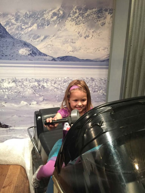 Snowmobile at the California Science Center