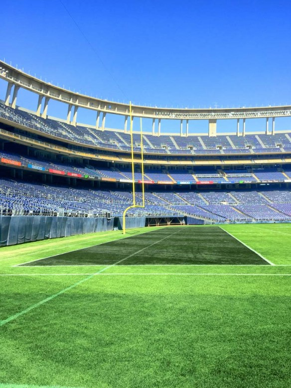 On the field at Qualcomm Stadium San Diego