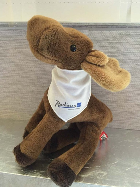 Marty the Moose at Radisson Blu Hotel