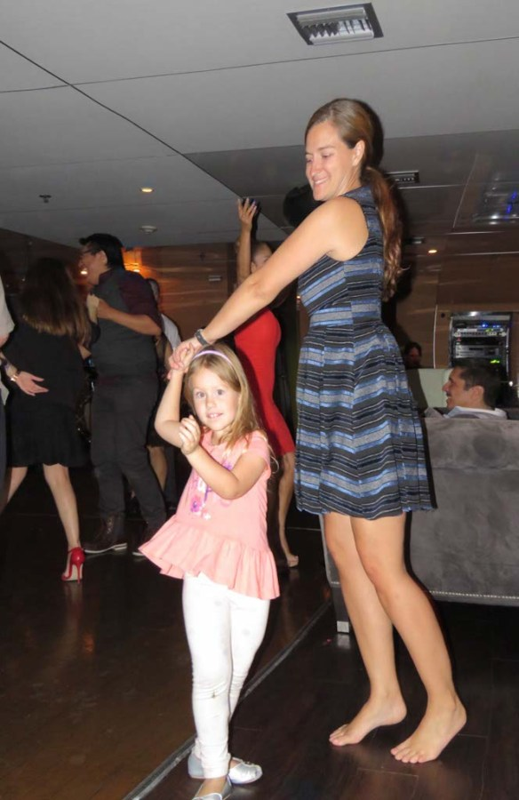 Dancing on Hornblower Cruise, Newport Beach, California