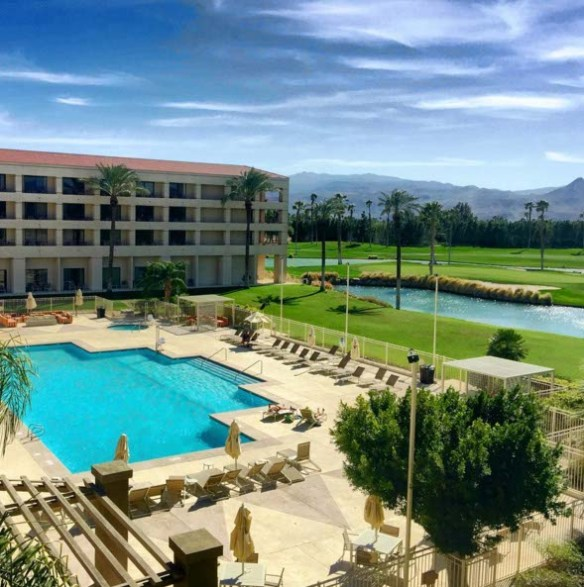 Suite view at DoubleTree Golf Resort in Palm Springs