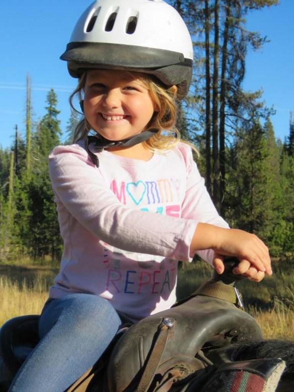 Riding horses at Drakesbad Guest Ranch, California