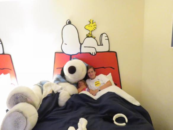 Snoopy Tuck In at Knott's Berry Farm Hotel