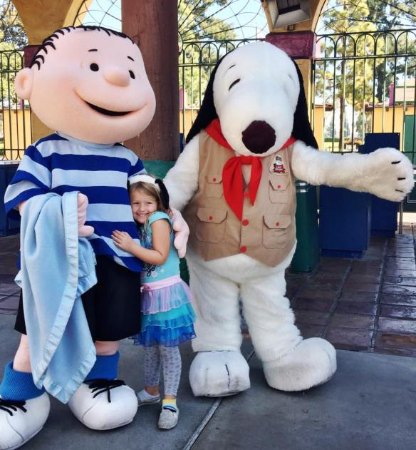 Snoopy characters at Knott's Berry Farm