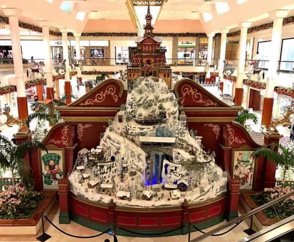 Holiday display at South Coast Plaza