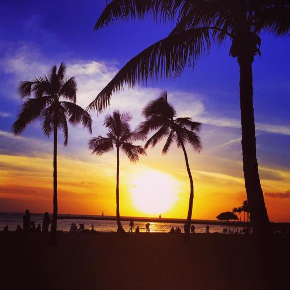 Sunset at Hilton Hawaiian Village