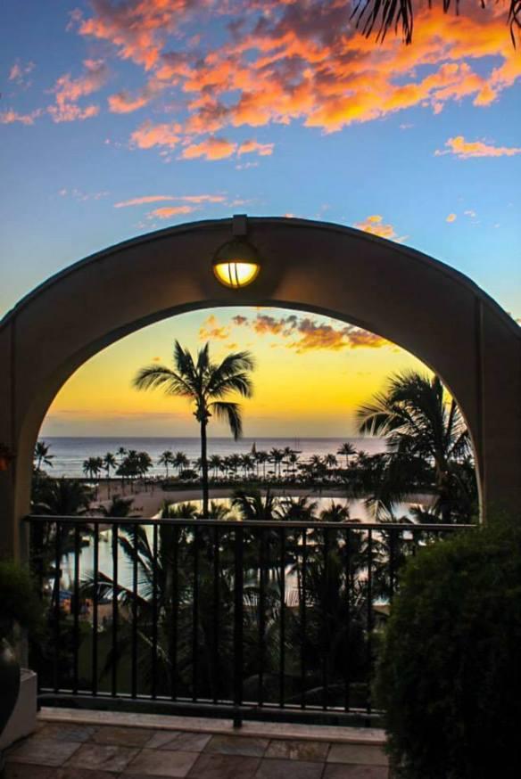 Sunset at Hilton Hawaiian Village, Oahu