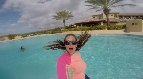 Pool fun at Santa Barbara Beach & Golf Resort Curacao
