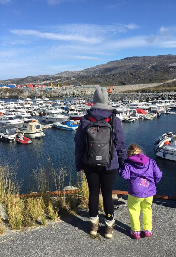 Standing at the marina in Nuuk, Greenland