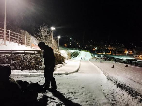 Night Sledding at Mont Tremblant