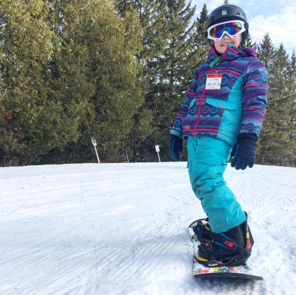 Snowboarding lessons at Mont Sutton, Quebec, Canada