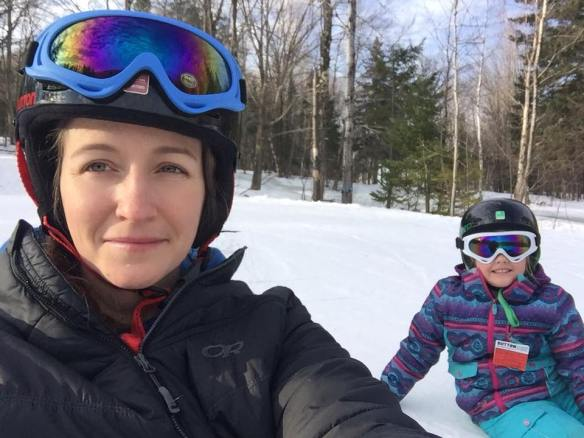 Snowboarding lesson at Mont Sutton, Quebec