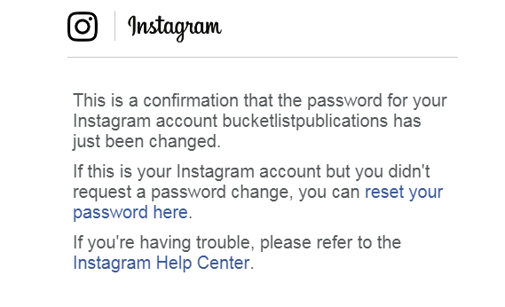 Instagram Hacked – Advice from a Victim | Bucket List Publications