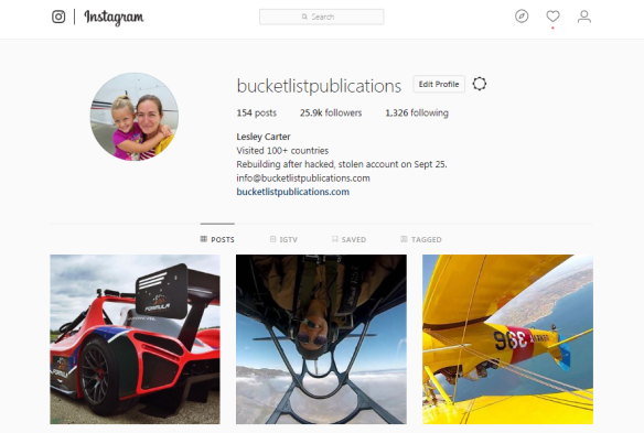 Bucket List Publications Instagram