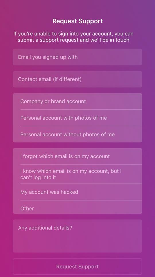Report Instagram Hack